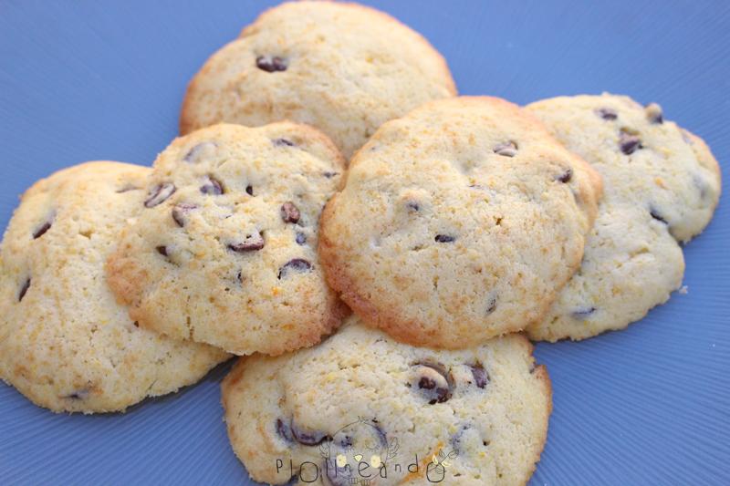 Receta galletas de naranja y chips de chocolate