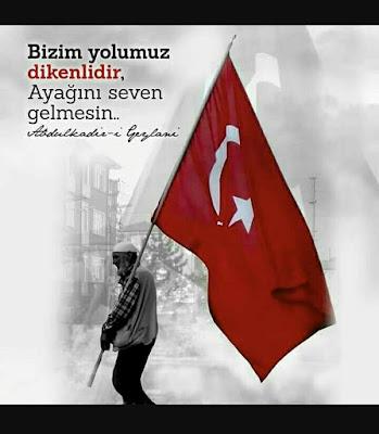 türk, türk bayrağı, osmanlı, osmanlı bayrağı, hizmet, islama hizmet, bayrak taşıyan amca, gösteri, özlü sözler, güzel sözler, anlamlı sözler,
