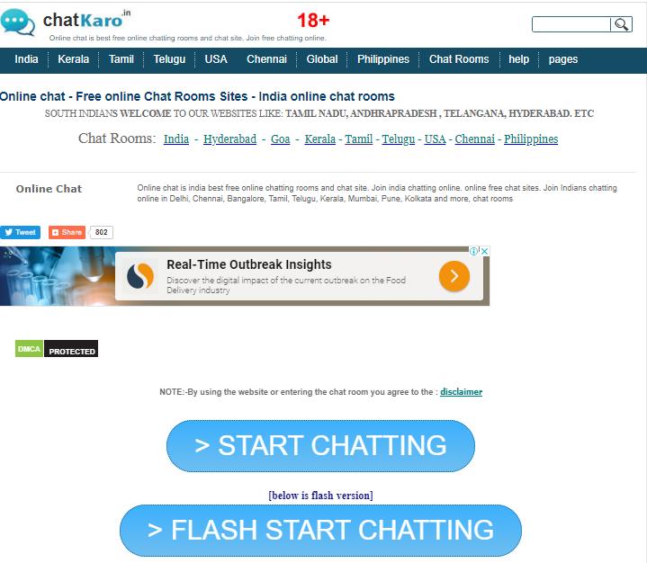 Chatkaro homepage