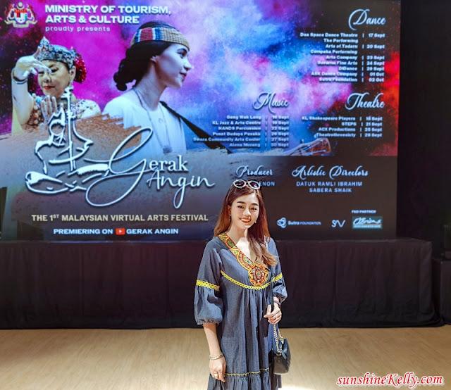 Gerak Angin, First Malaysian Virtual Arts Festival, Studio Ramli Hassan, Taman Tunku, Lifestyle