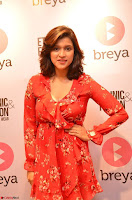 Mannara Chopra in deep neck Short red sleeveless dress Cute Beauty ~  Exclusive Celebrities Galleries 079.JPG