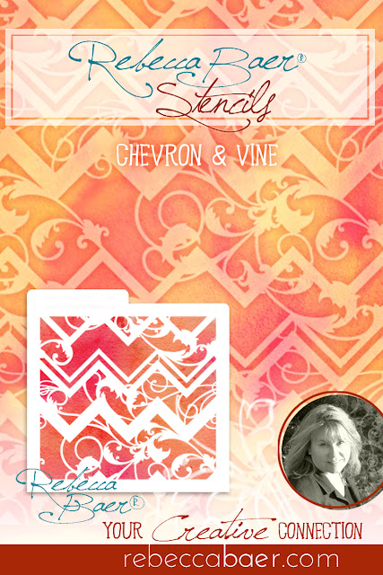 Chevron & Vine Stencil | RebeccaBaer.com