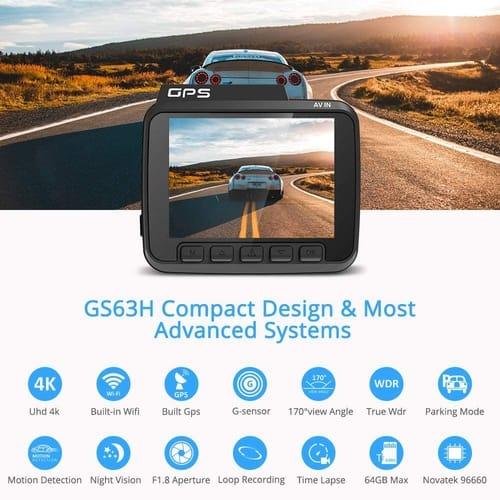 Review AZDOME UHD Dash Cam GPS WiFi Car Camera