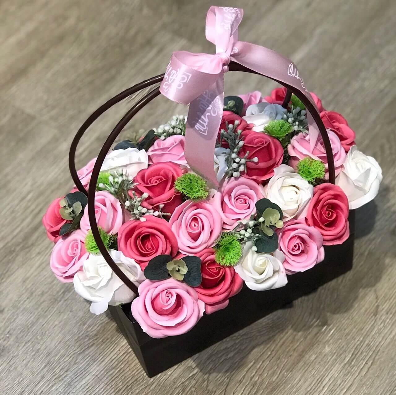 Hoa hồng lẵng 28 bông