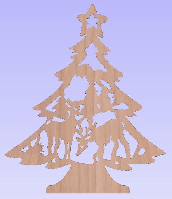 Елочки,украшения на Новый год,лазерная резка елок
