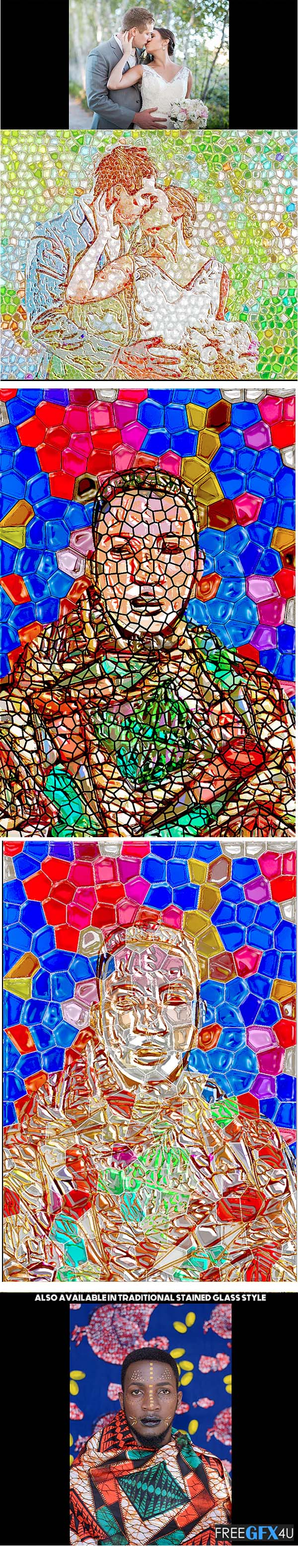 Stained Glass Photoshop Artwork