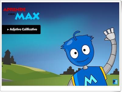 """Aprende con Max: """"Adjetivo calificativo"""""""