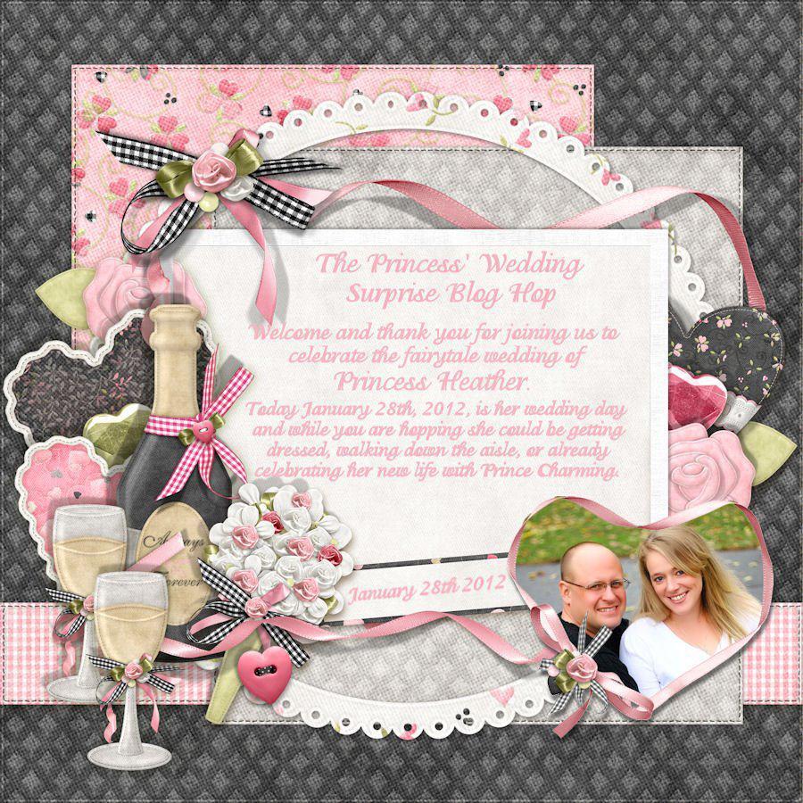 CardMonkey's Paper Jungle: A Princess' Wedding Blog Hop - 12x12