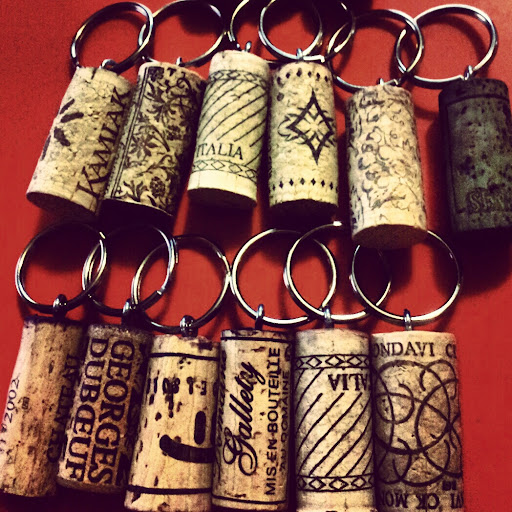 image diy cork keyring tutorial