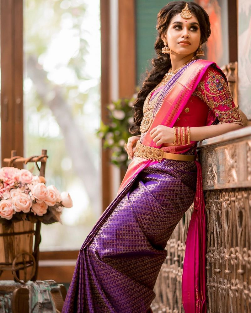 Meenakshi Govindharajan in Latest bridal saree photos