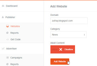 Cara Daftar dan Pasang Iklan Poptm di Blog