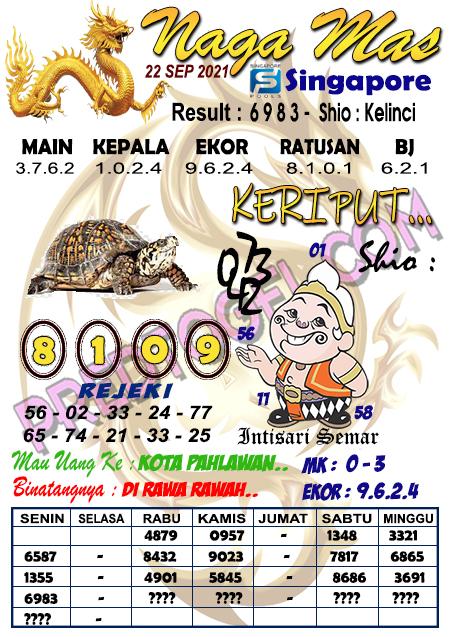 Syair Nagamas SGP Rabu 22 September 2021