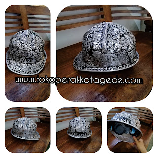 handmade alumunium helmet, helmet egraved