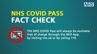 The NHS COVID Pass is FREE and always will be on the NHS app