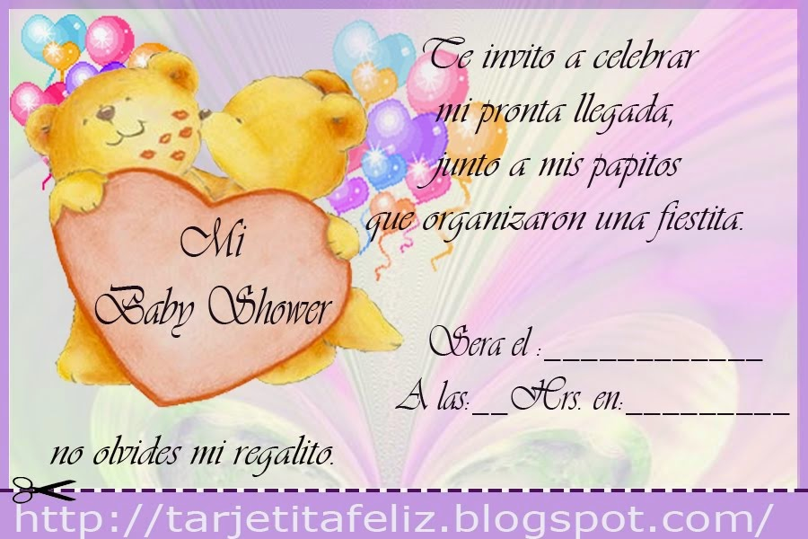 tarjetas de invitacion para baby shower en blanco