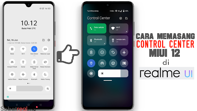 Realme UI Control Center vs MIUI 12
