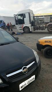 Vídeo: Troca de tiros entre caminhoneiro e policiais deixa dois feridos no Paraná