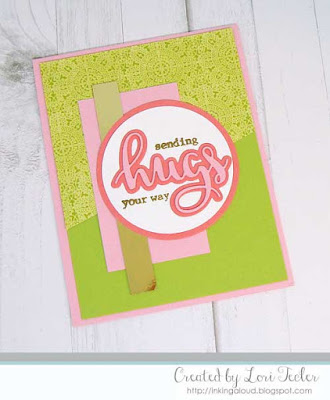 Sending Hugs Your Way card-designed by Lori Tecler/Inking Aloud-stamps and dies from Avery Elle