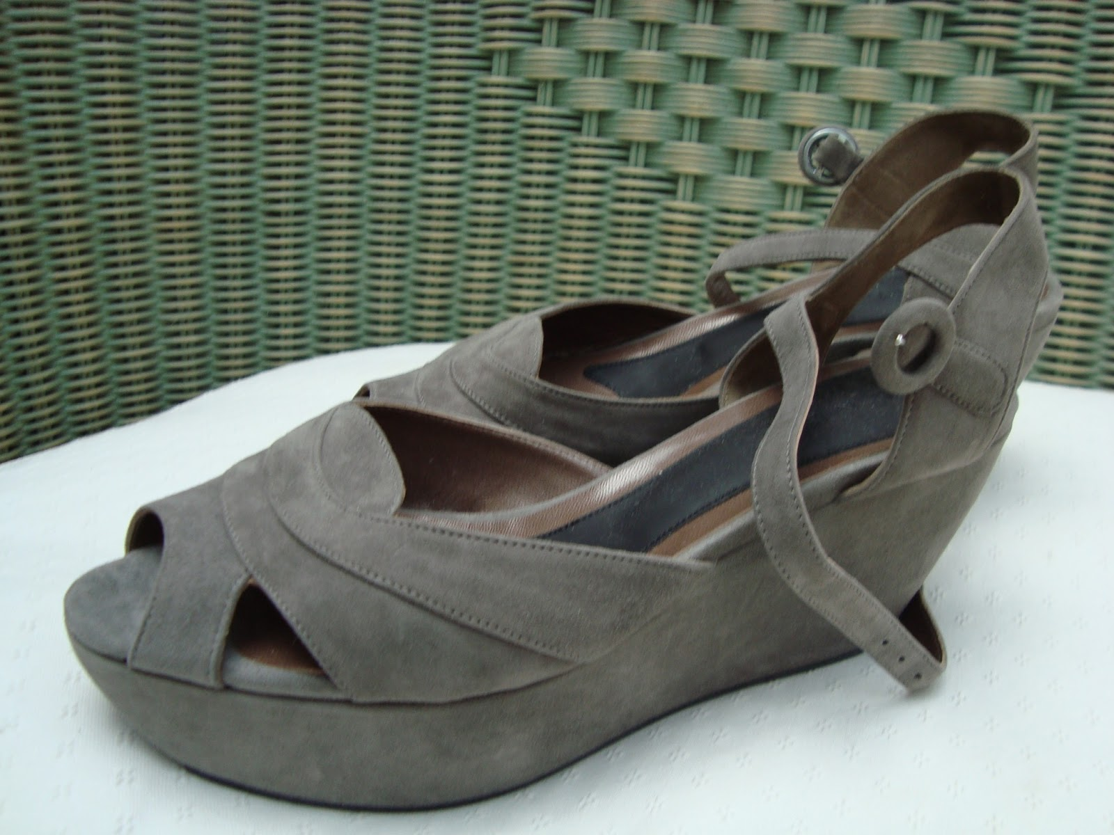 702a827b93502 LSK COLLECTION FOR SALE  MARNI Grey Suede Platform Wedge Sandals Size 40