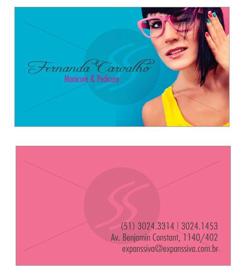cartao de visita manicure mulher colorido - Cartões de Visita para Manicure e Pedicure