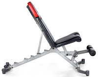Bowflex SelectTech 5.1 with 6 levels of angle adjustability, 90 degrees, 60 degrees, 45 degrees, 30 degrees, 0 degrees flat, -17 degrees decline