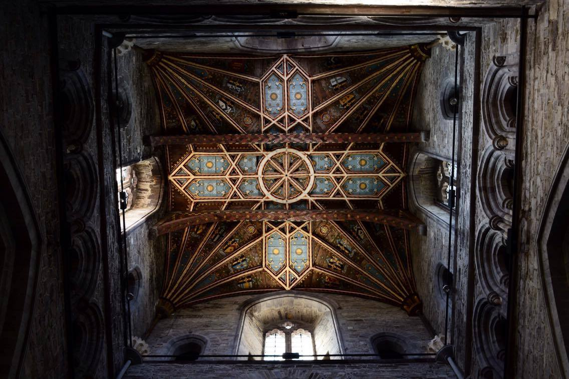 st david, wales, travel, travelling, holiday, beach, countryside, ceiling, arts