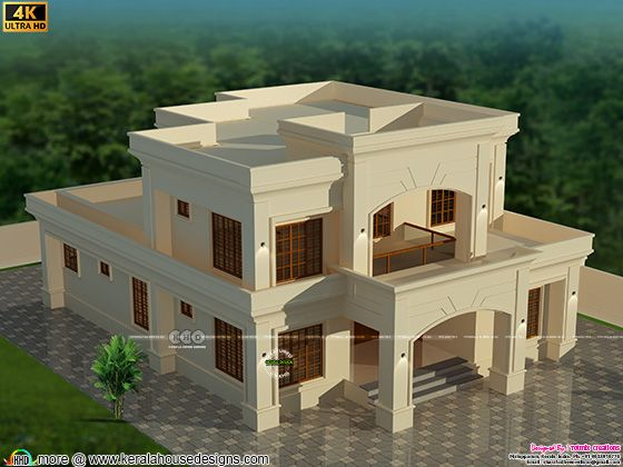 Colonial home design top view