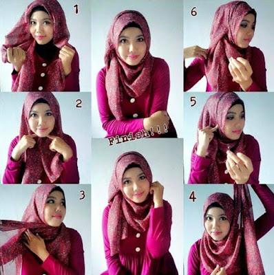Tutorial Hijab Segitiga Simple Elegan Tanpa Ninja