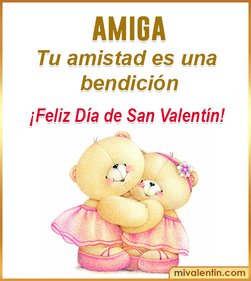 tarjetas de san Valentín para amigas