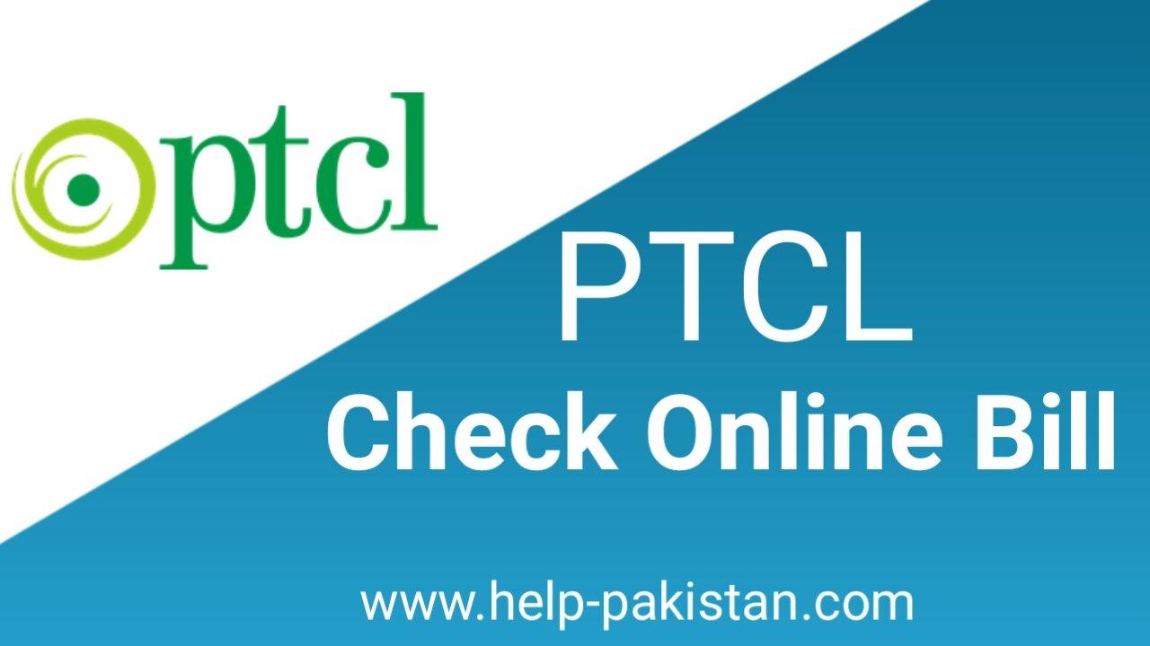 ONLINE CHECK PTCL BILL