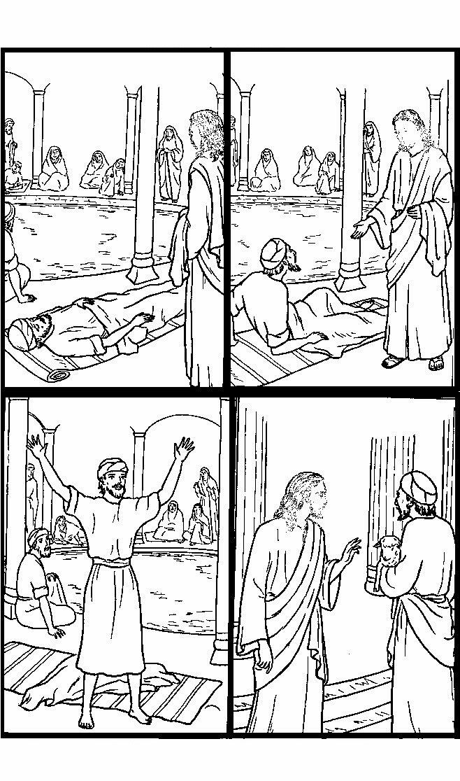 imagenes cristianas para colorear jesus curaba enfermos