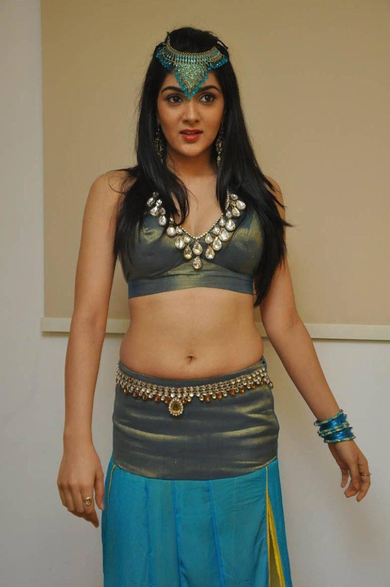Sakshi Chaudhary Hip Navel Images In Blue Half Saree