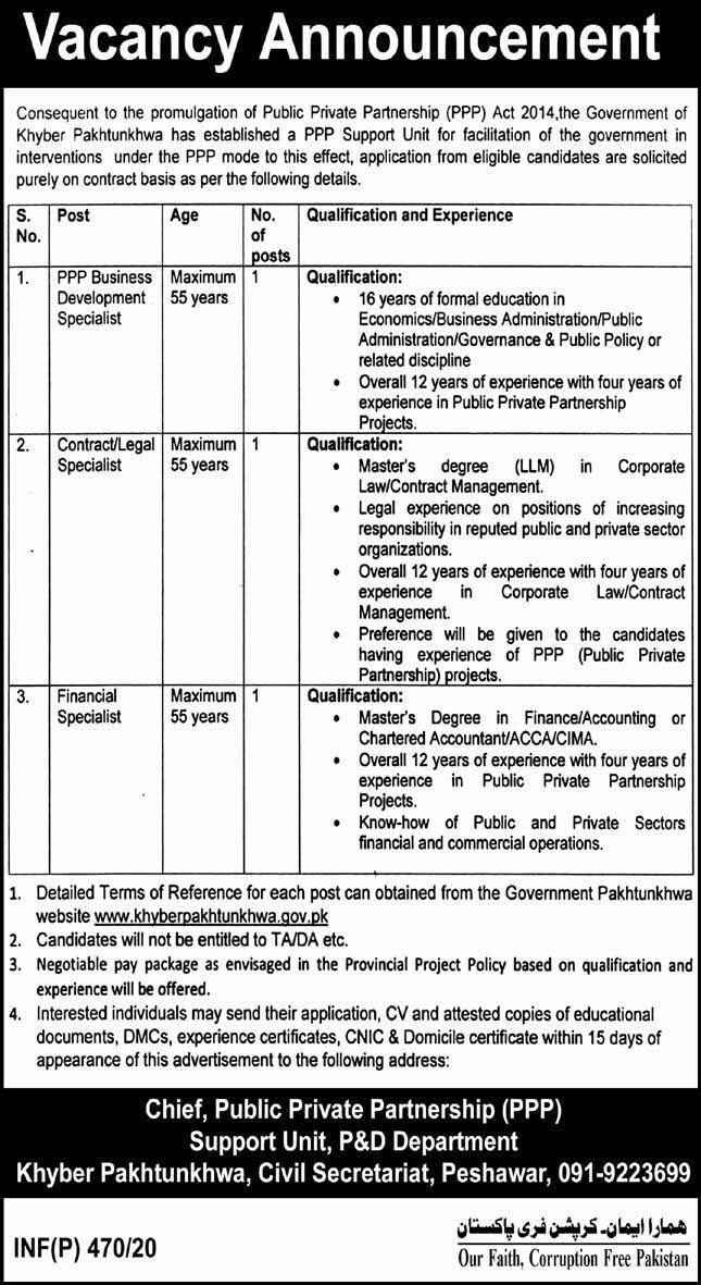 Public Private Partnership PPP Jobs February 2020