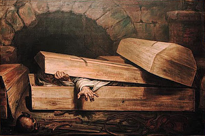 The Premature Burial (1854) - Antoine Wiertz, horror art