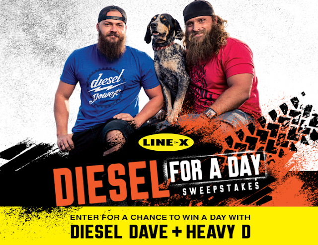 """Line X has your chance to enter to win a trip to Salt Lake City, Utah to meet Diesel Dave and Heavy D from the show """"Diesel Brothers"""" or other great prizes!"""