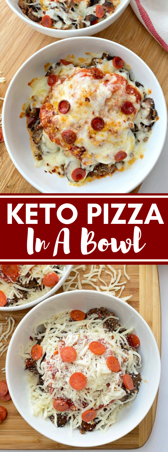 Keto Pizza In A Bowl #lowcarb #dinner