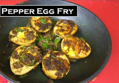 Spicy Pepper egg fry in tamil [roast ] | chettinad style