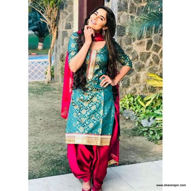 22 Latest Punjabi Suits Party Wear In 2019,Mint Green Combination Color