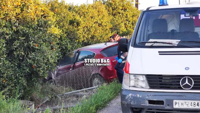 Εκτροπή αυτοκινήτου στην Αργολίδα με τραυματισμό (βίντεο)