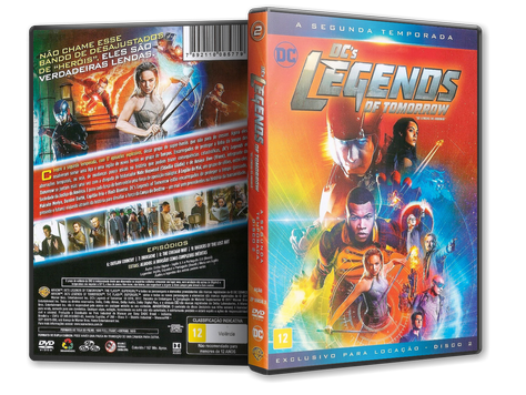 Capa DVD DC's Legends of Tomorrow - Segunda Temporada - Disco 2 (Oficial)