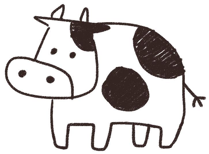 牛のイラスト(丑年・干支): ゆるかわいい無料イラスト素材集