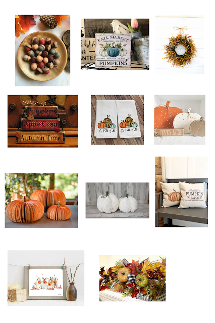 fall decor finds on Etsy