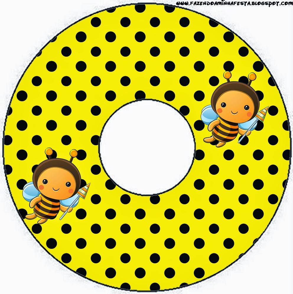 Etiquetas de Abejitas Bebé para CD's.