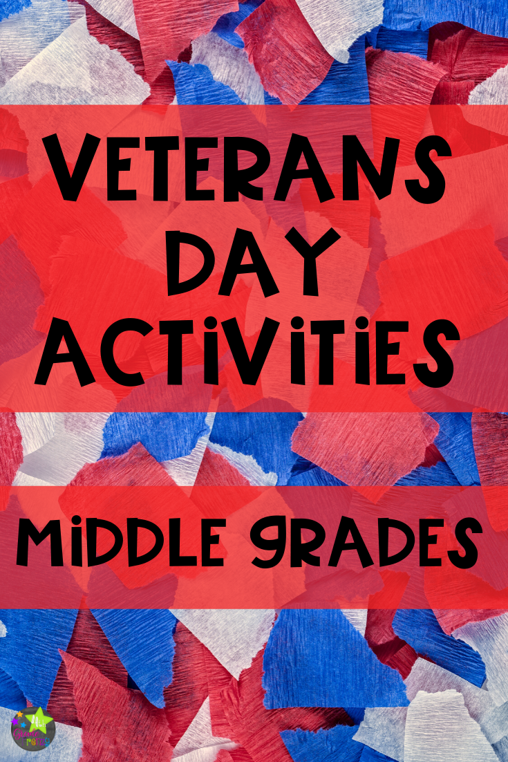 4th Grade Frenzy: 3 Veterans Day Ideas For Middle Grades [ 1102 x 735 Pixel ]
