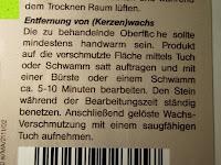 Steinofen-Pflege Entfernung von Wachs: Naturstein und Specksteinofen-Pflegeset 4 tlg.