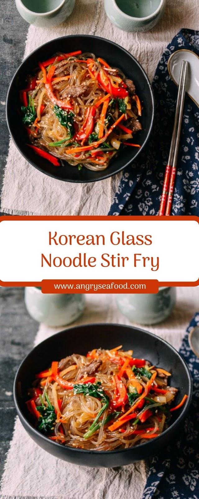 Korean Glass Noodle Stir Fry