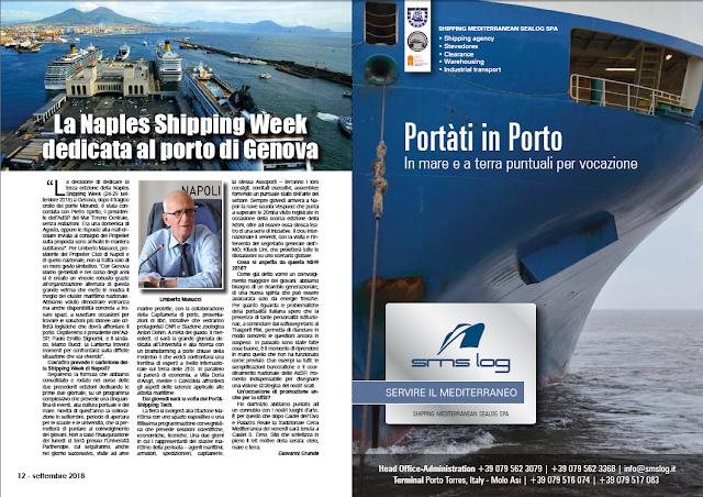 SETTEMBRE2018 PAG. 12 - La Naples Shipping Week dedicata al porto di Genova