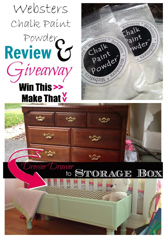 Websters Chalk Paint Powder REVIEW {And Giveaway}