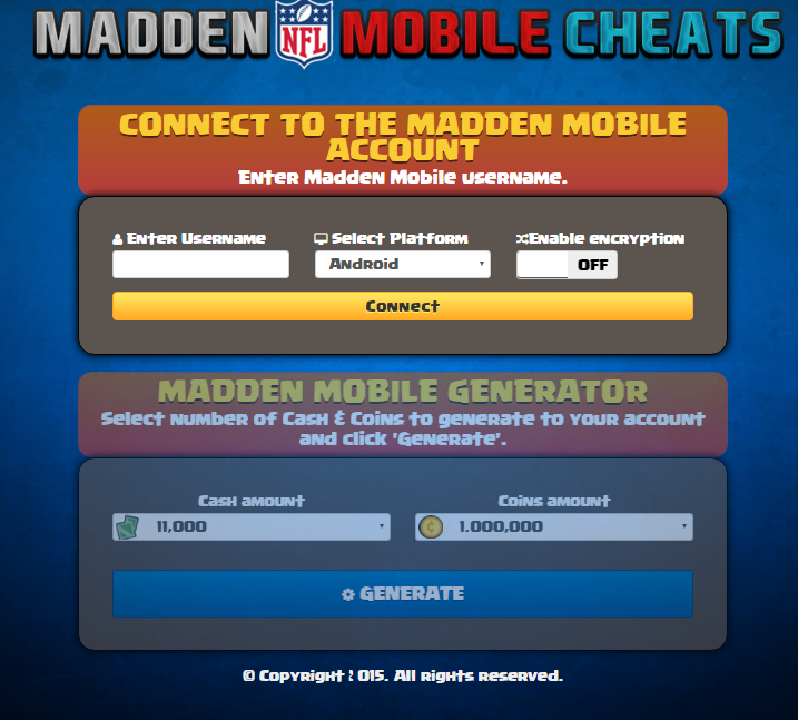 madden mobile maniacs madden mobile coin generator