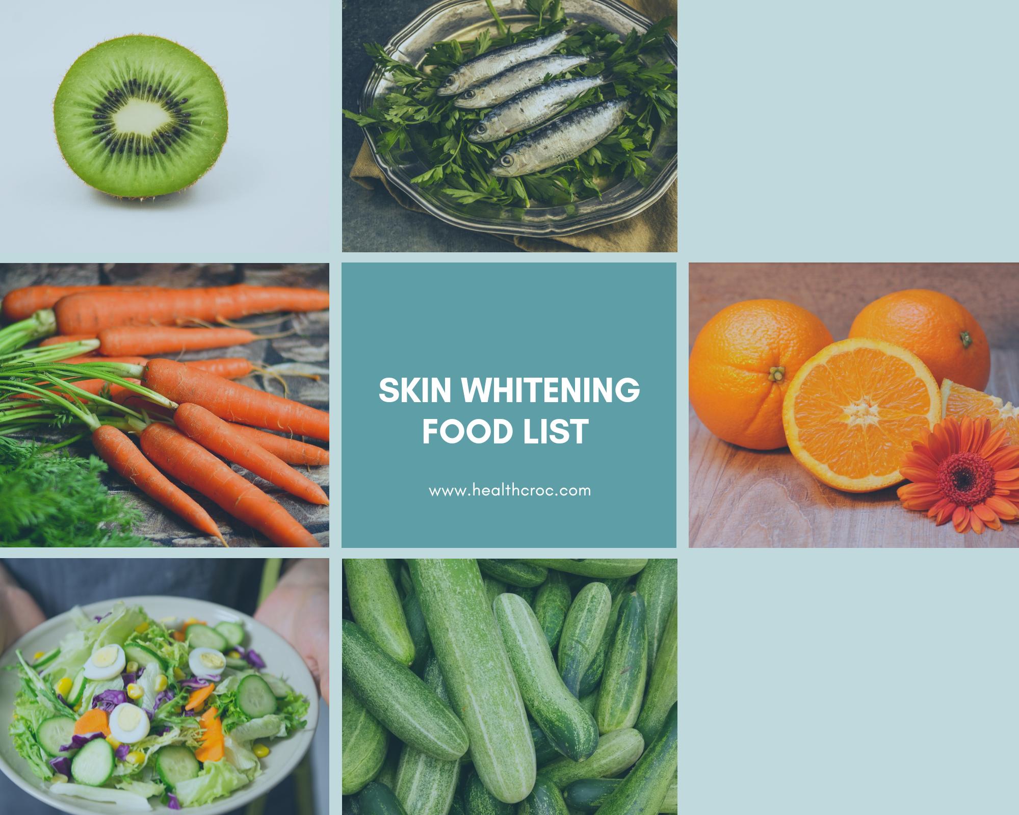 skin whitening food to eat